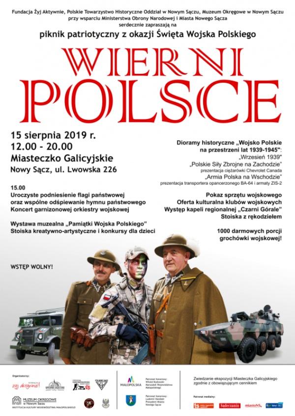 piknik patriotyczny Wierni Polsce w Nowym Sączu