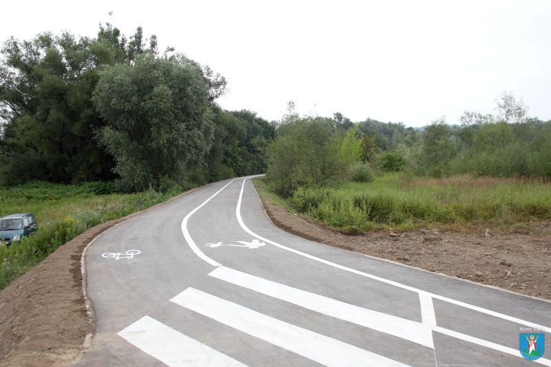 Ścieżka nad Kamienicą dla pieszych, biegaczy i rowerzystów.