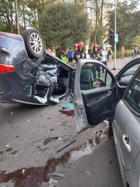Zderzenie samochodów Nowy Sącz, ul Barska