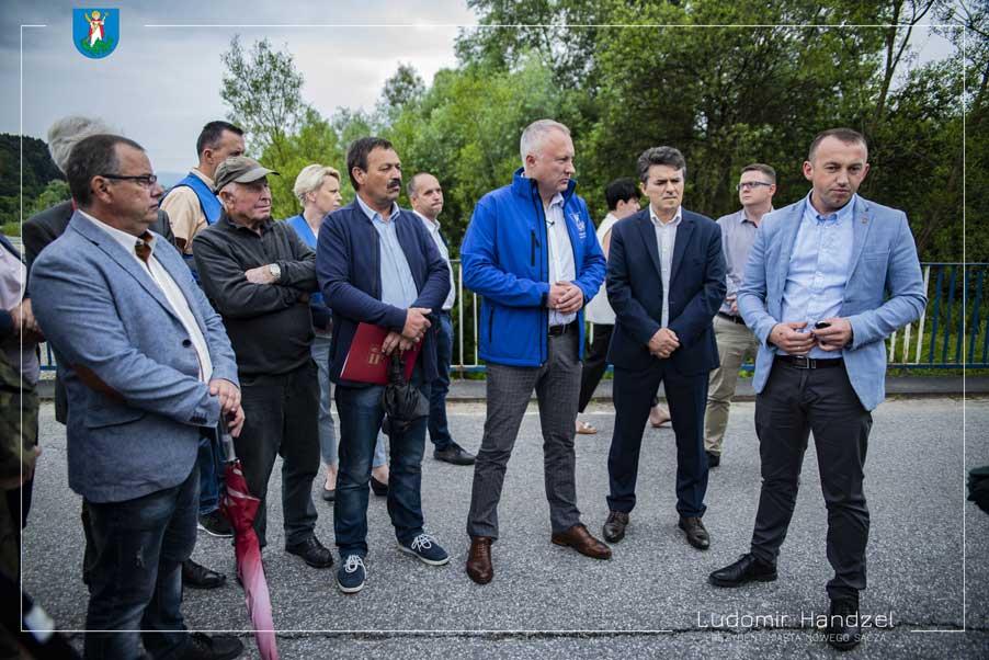 Rekonesans w sprawie budowy mostu tymczasowego na rzece Kamienica Nowy Sącz