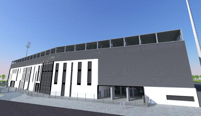 Projekt stadionu Sandecji Nowy Sącz