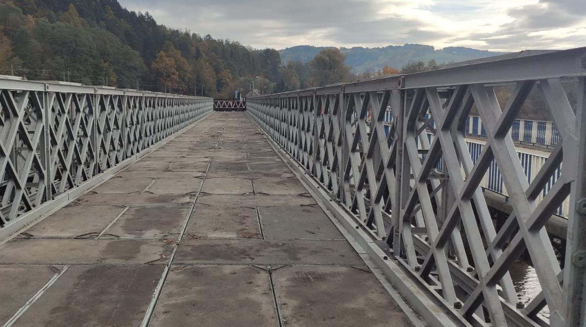 tymczasowy most kamienica
