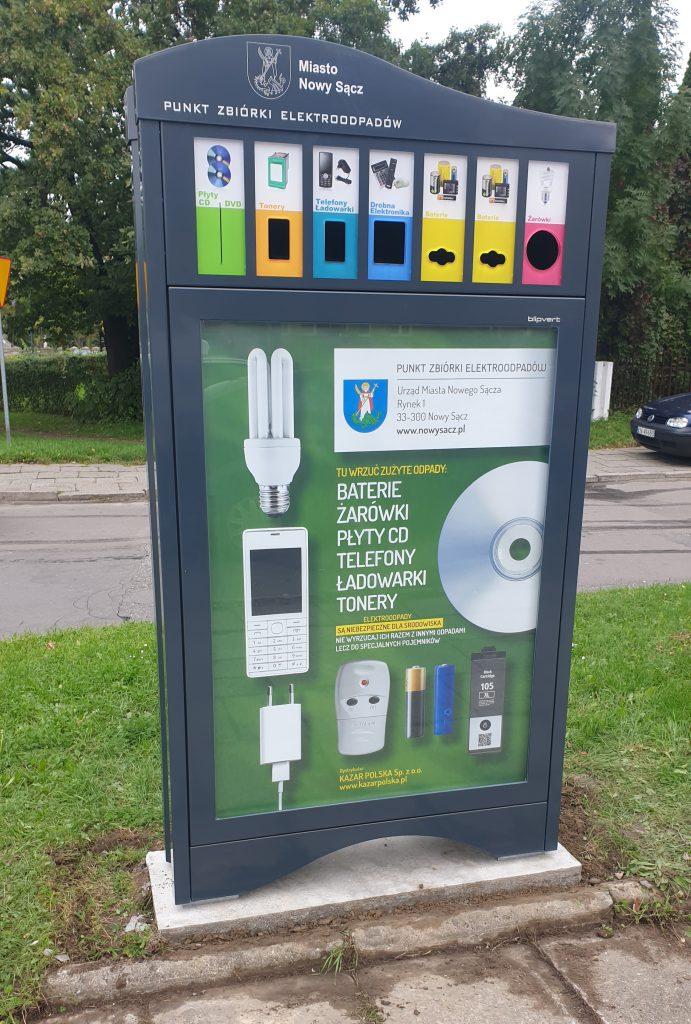 punkt zbiórki drobnych elektroodpadów nowy sącz