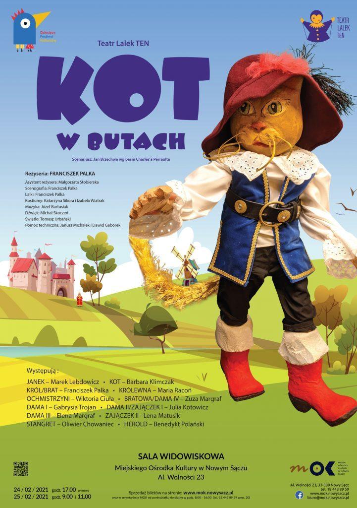 Kot w butach - teatr lalek w Miejski Ośrodek Kultury w Nowym Sączu